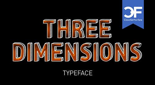 CF Three Dimensions Personal font by CloutierFontes