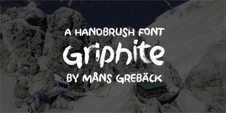 Griphite PERSONAL USE font by Måns Grebäck