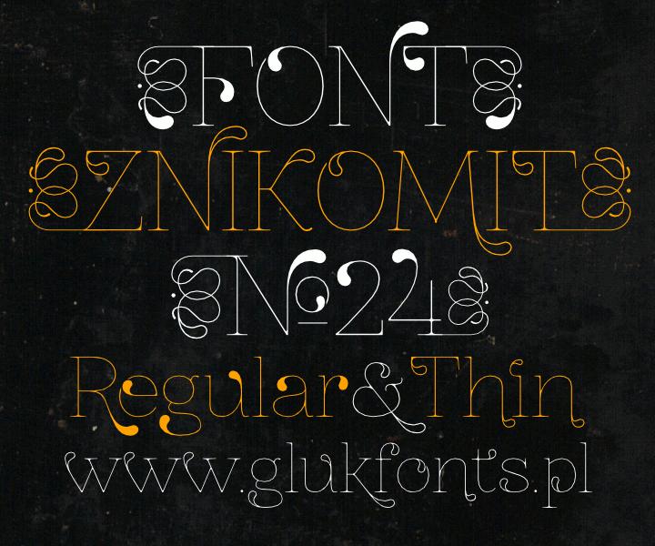 ZnikomitNo24 font by gluk