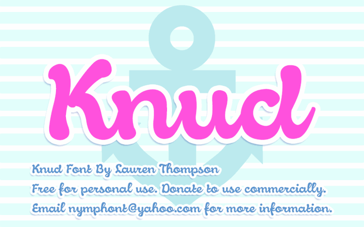 Knud font by Nymphont