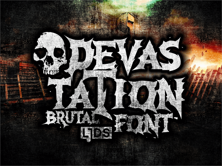Devastation DEMO font by LJ Design Studios