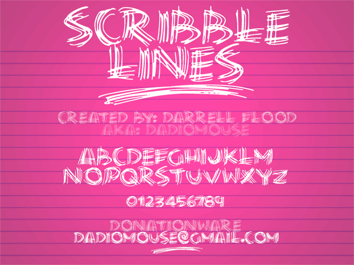 Scribble Lines font by Darrell Flood