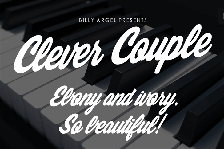 Clever Couple Personal Use font by Billy Argel