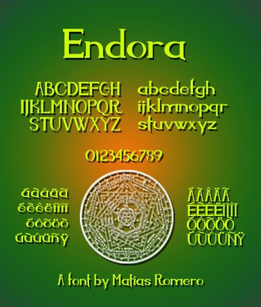 Endora font by Matias Romero