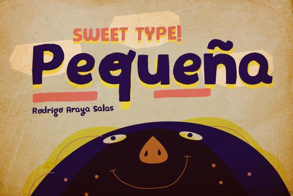 Pequeña  font by RASDESIGN
