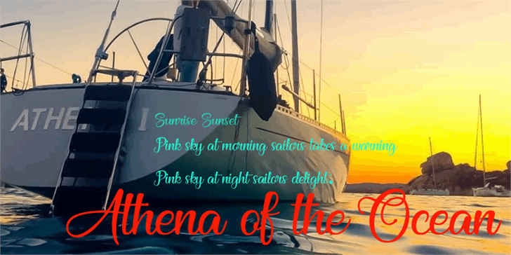 Athena of the Ocean font by Foundmyfont Studio Typeface LTD