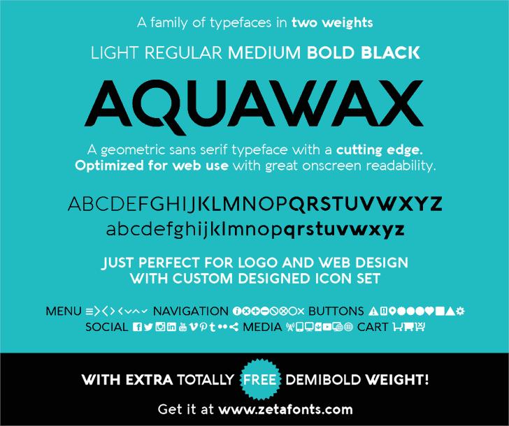 Aquawax font by Zetafonts