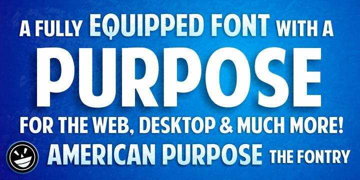 American Purpose font by the Fontry