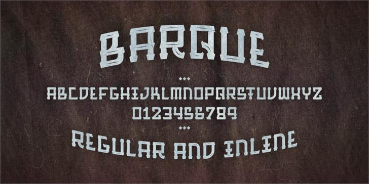 BarqueInline font by Klomer