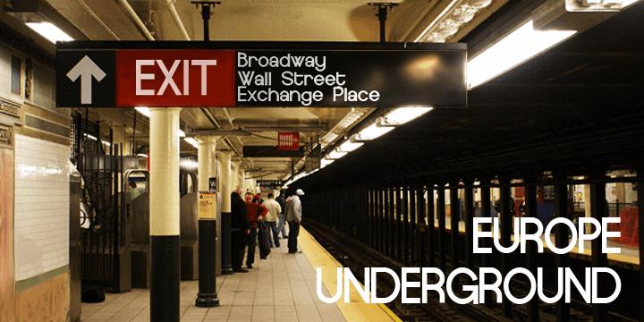 Europe Underground font by Måns Grebäck