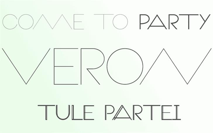 Veron font by Paulo R