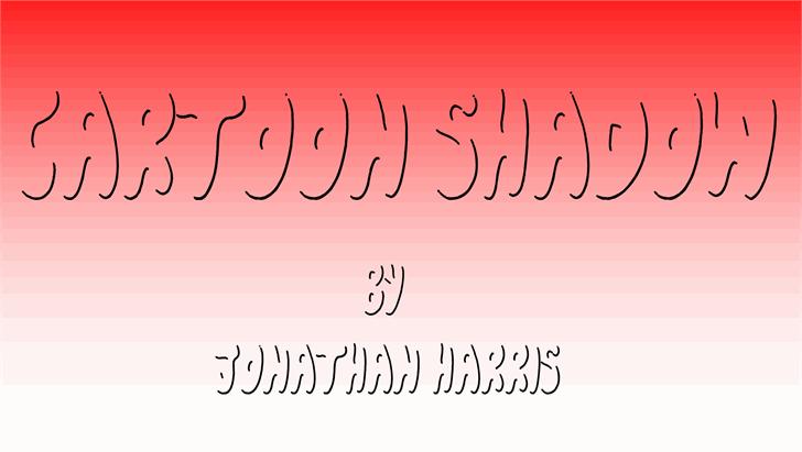 Cartoon Shadow font by Jonathan S. Harris