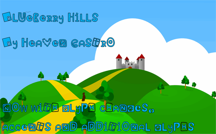Blueberry Hills font by heaven castro