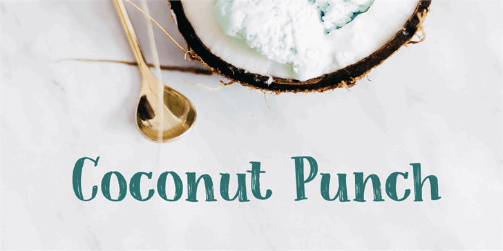 Coconut Punch DEMO font by David Kerkhoff