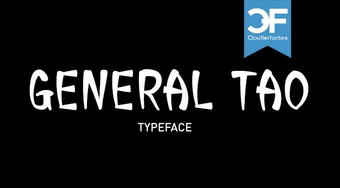 CF General Tao font by CloutierFontes