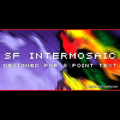 SF Intermosaic font by ShyFoundry