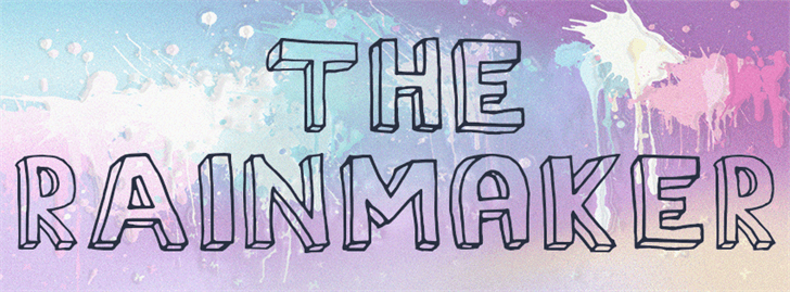 The Rainmaker font by Paulo R