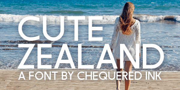 Cute Zealand font by Chequered Ink