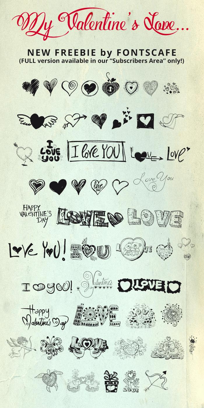 MyValentinesLove-demo font by FontsCafe