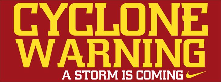 NCAA Iowa St Cyclones font by The Sports Fonts
