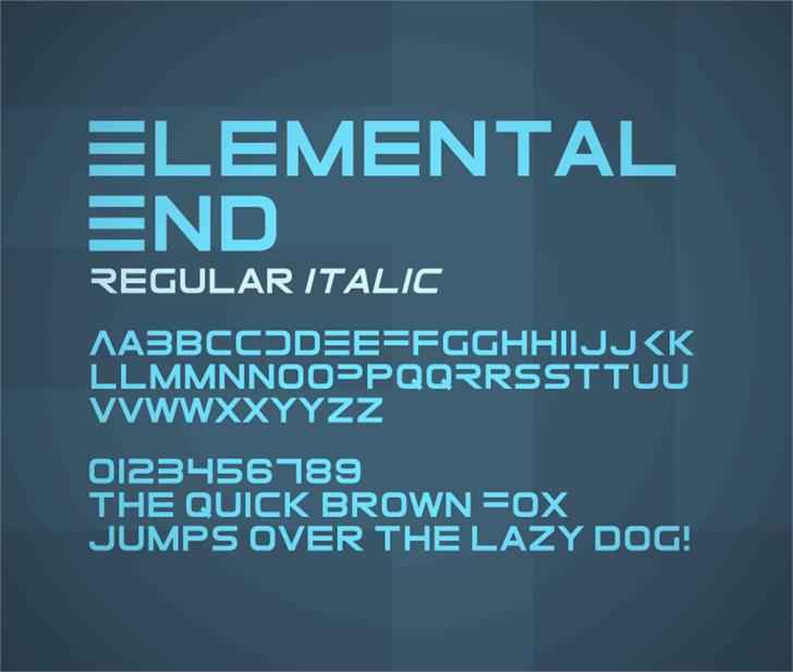 ElementalEnd font by Zdeněk Gromnica