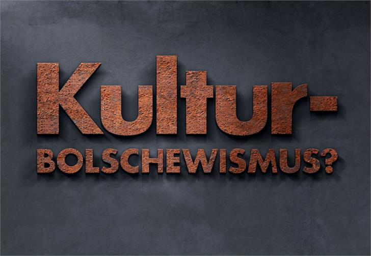 Kulturbolschewismus font by HENRIavecunK
