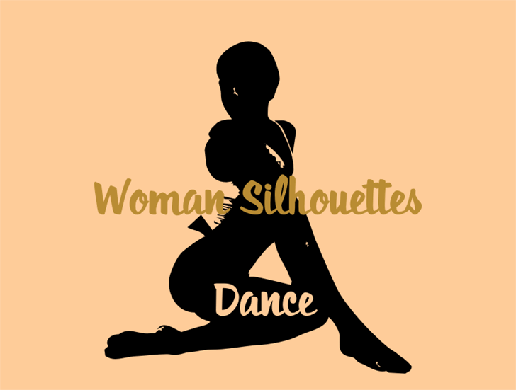 WomanSilhouettes font by Intellecta Design