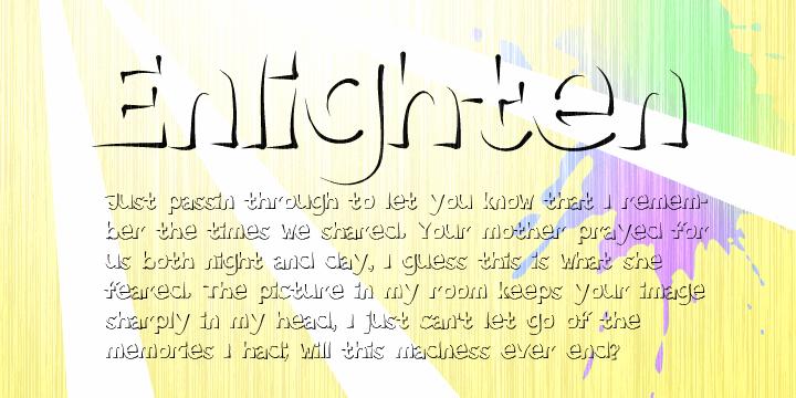 Enlighten  font by Måns Grebäck