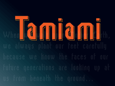 tamiami font by Roland Huse Design