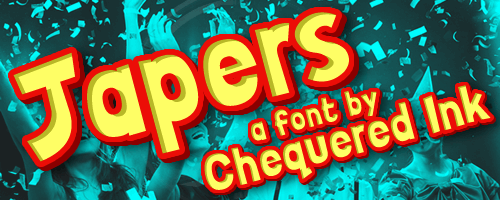 Japers font by Chequered Ink