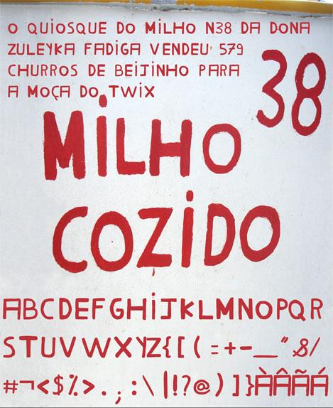 Milho Cozido font by Marcus Dejean