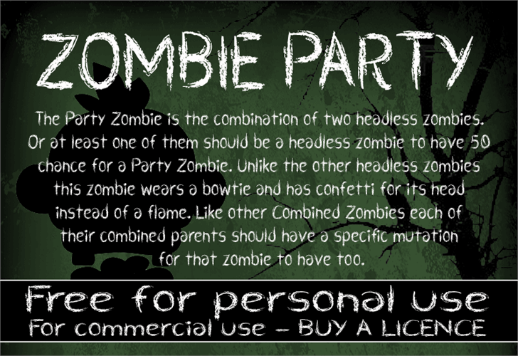 CF Zombie Party font by CloutierFontes