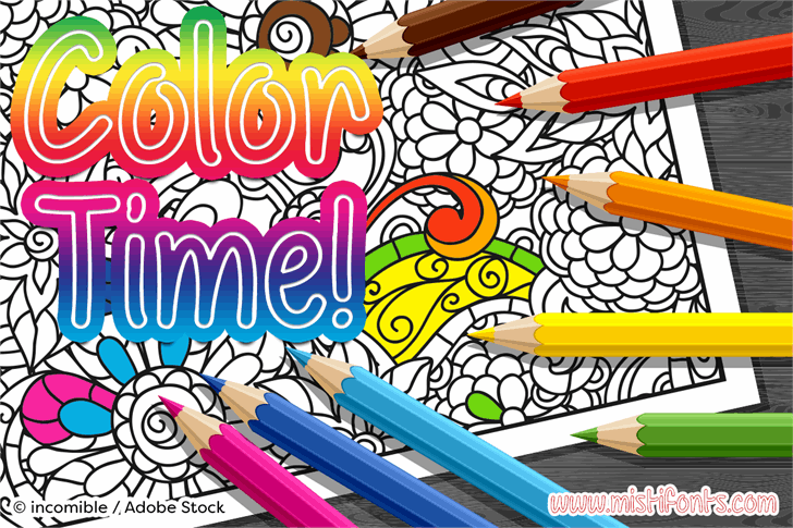 Color Time font by Misti's Fonts