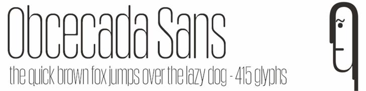 Obcecada Sans font by deFharo
