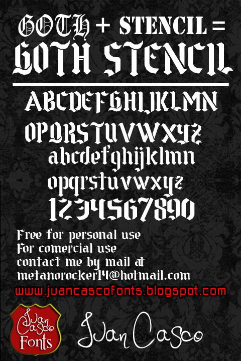 Goth Stencil font by Juan Casco