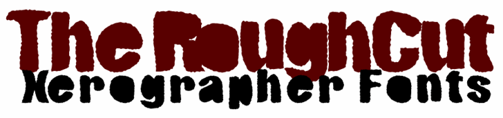 RoughCut font by Xerographer Fonts