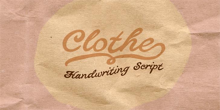 Clothe PERSONAL USE ONLY font by Måns Grebäck