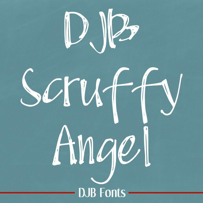 DJB Scruffy Angel font by Darcy Baldwin Fonts