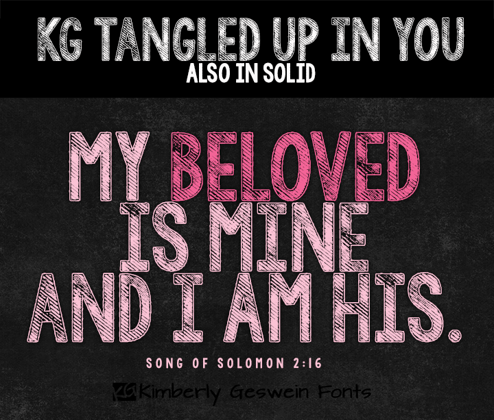 KG Tangled Up In You  font by Kimberly Geswein
