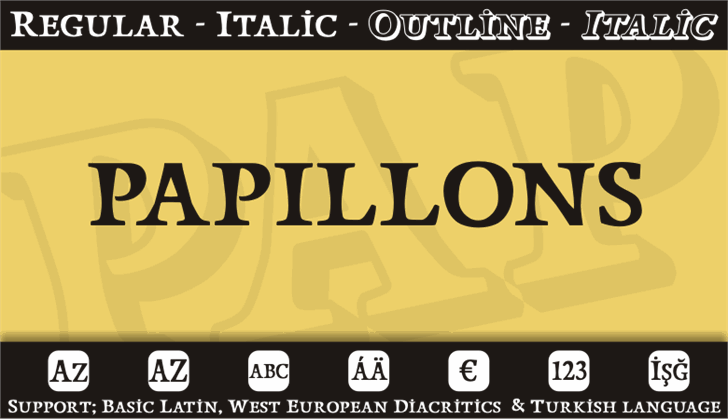 Papillons font by studiotypo
