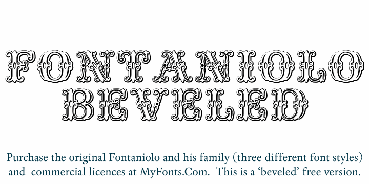 Fontaniolo Beveld font by Intellecta Design