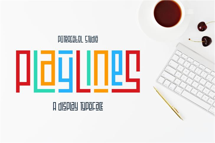 Playlines Free font by PutraCetol Studio