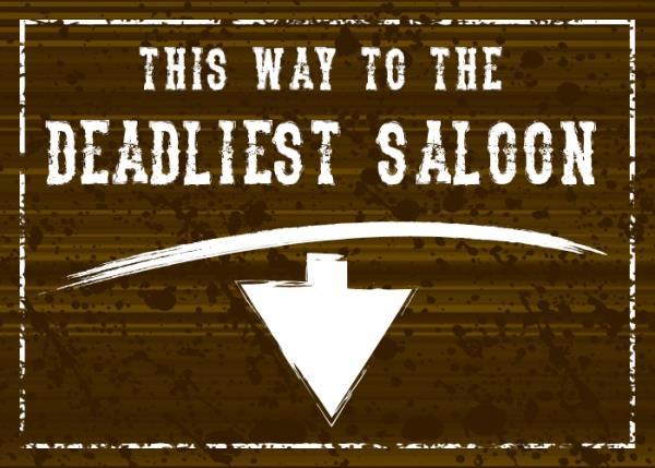 The Deadliest Saloon font by Chris Vile