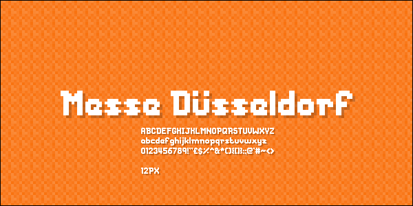 Messe Duesseldorf font by Chequered Ink