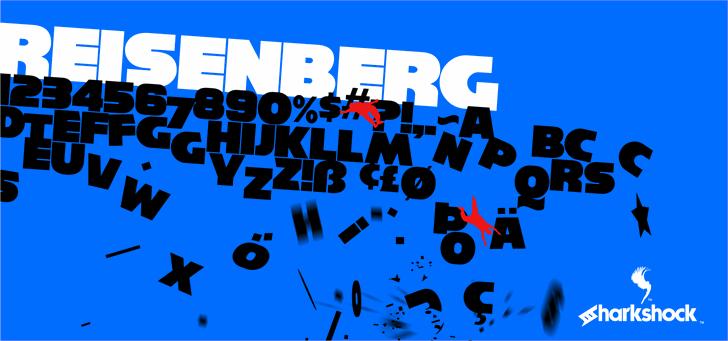 Reisenberg font by sharkshock