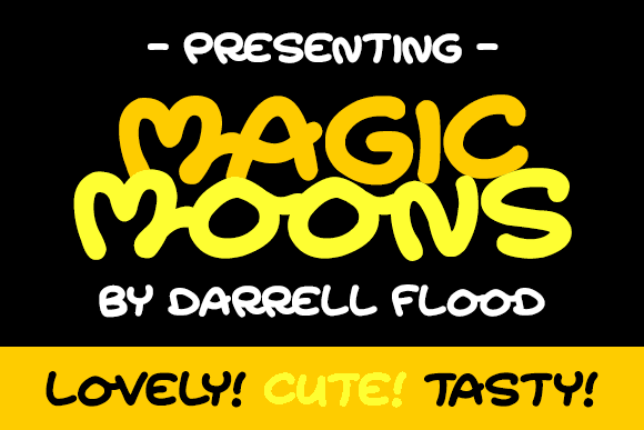 Magic Moonshine font by Darrell Flood