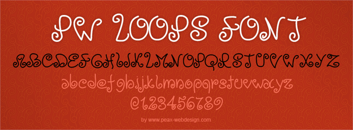 PWLoops font by Peax Webdesign