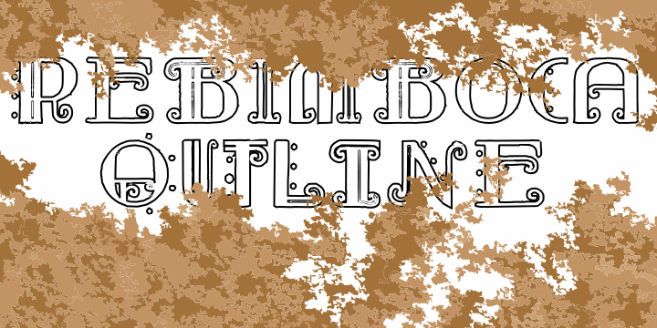Rebimboca Outline font by Intellecta Design