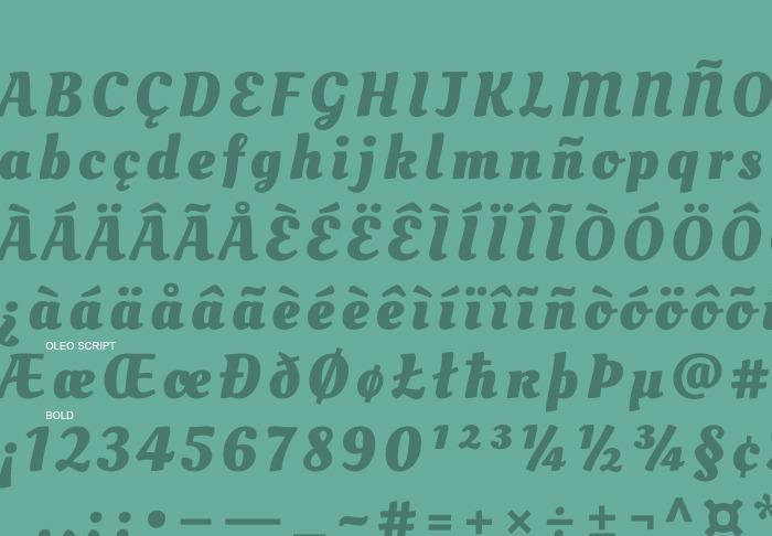 Oleo Script font by soytutype