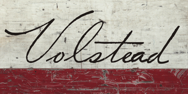 Volstead font by Intellecta Design